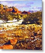 Sedona Winter Painting Metal Print