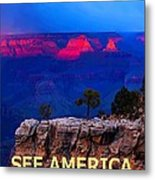 See America - Grand Canyon National Park Metal Print