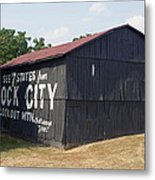 See Rock City Barn Metal Print