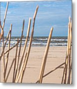 See Through On The Dutch Beach Metal Print