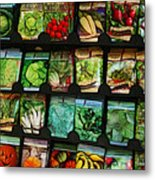 Seed Packets Metal Print