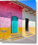Seeing Pink In Latin America - Granada Metal Print by Mark E Tisdale