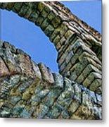 Segovia Aqueduct Arch By Diana Sainz Metal Print