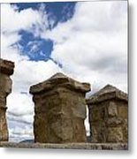 Segovia Wall Against Blue Sky Metal Print