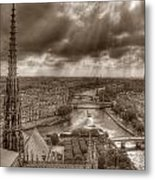 Seine From Notre Dame Metal Print