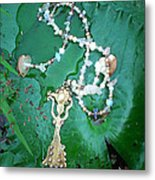Self-esteem Necklace With Offerings Goddess Pendant Metal Print
