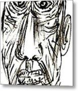 Self-portrait As An Old Man Metal Print