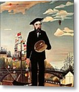 Self Portrait Metal Print by Henri Rousseau