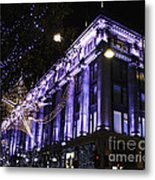 Selfridges London At Christmas Time Metal Print