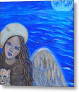 Selina Little Angel Of The Moon Metal Print