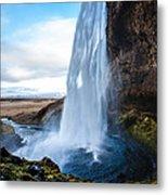 Seljalandsfoss Waterfall Metal Print
