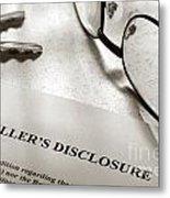 Seller Property Disclosure Metal Print