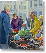 Selling Vegetables At The Market Metal Print