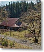 Selma Barn And Country Road Metal Print