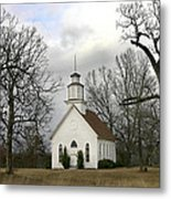 Selma United Methodist Church In Winter Metal Print