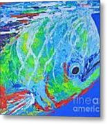semi abstract Mahi mahi Metal Print