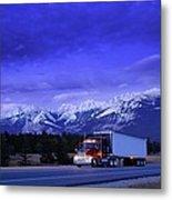 Semi-trailer Truck Metal Print