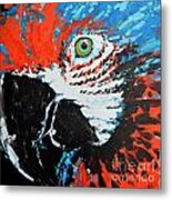 Semiabstract Parrot Metal Print