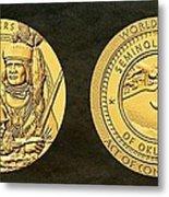 Seminole Nation Code Talkers Bronze Medal Art Metal Print