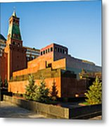 Senate Tower And Lenin's Mausoleum - Square Metal Print