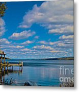 Seneca Lake At Glenora Point Metal Print