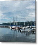 Seneca Lake Harbor - Watkins Glen - Wide Angle Metal Print