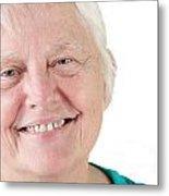 Senior Woman Portrait Smiling Metal Print