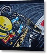 Senna Onboard Metal Print