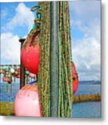 Sennen Cove Buoys Metal Print