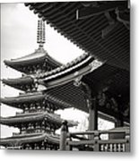 Senso-ji Temple In Tokyo  Metal Print