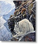 Sentinel Of The Canyon Metal Print by Steve Spencer