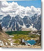 Sentinel Pass And Larch Valley Metal Print
