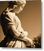 Sepia Angel Dream Metal Print
