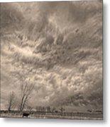 Sepia Angry Skies Metal Print