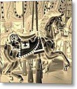 Sepia Horse Metal Print