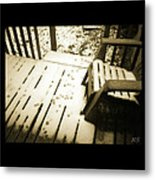 Sepia - Nature Paws In The Snow Metal Print