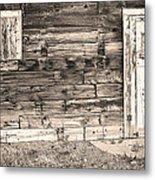 Sepia Rustic Old Colorado Barn Door And Window Metal Print by James BO  Insogna