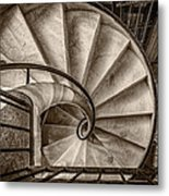 Sepia Spiral Staircase Metal Print