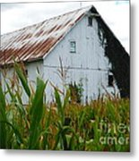 September Corn Barn Metal Print