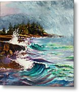 September Storm Lake Superior Metal Print