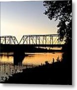 September Sunset On The River Metal Print