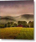 Sequatchie Vally Red Barn Metal Print by Paul Herrmann
