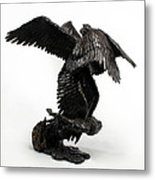 Seraph Angel A Religious Bronze Sculpture By Adam Long Metal Print by Adam Long
