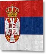 Serbia Flag Metal Print