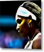 Serena Williams Focus Metal Print