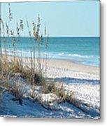 Serene Florida Beach Scene Metal Print