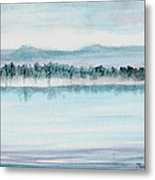 Serene Lake View Metal Print