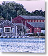 Serene Seaport Metal Print