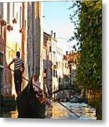 Serene Venice Scene Metal Print