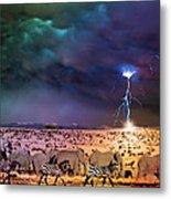 Serengeti Storm Metal Print